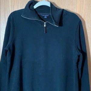 Land's End zip neck sweatshirt navy M (large)
